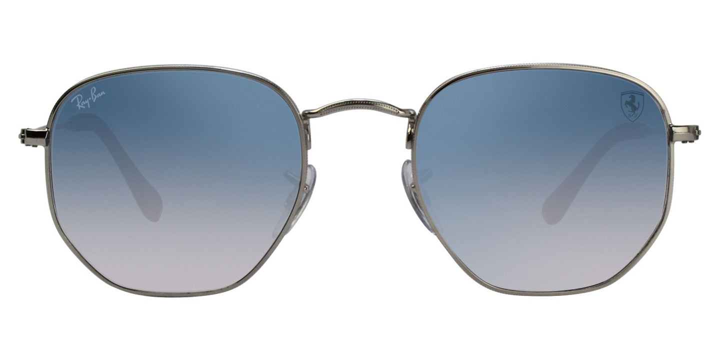 Ray Ban - RB3548NM Silver Oval Unisex Sunglasses - 51mm