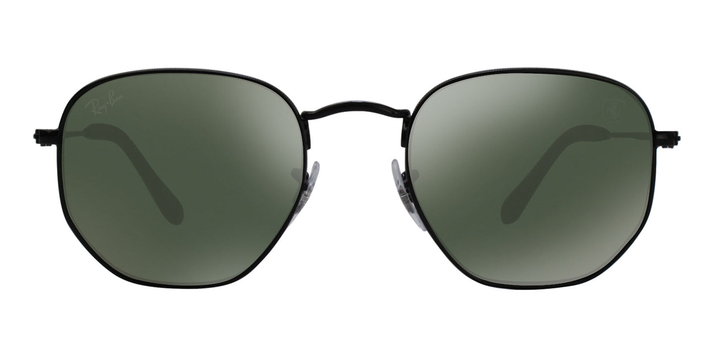 Ray Ban - RB3548NM Black/Green Oval Unisex Sunglasses - 51mm