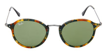 Ray Ban - Round Fleck Green/Brown/Green Oval Unisex Sunglasses - 49mm