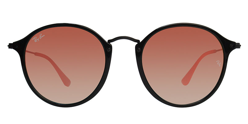 Ray Ban - Round Fleck Black/Red Mirror Oval Unisex Sunglasses - 52mm