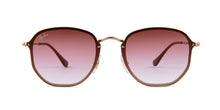 Ray Ban - RB3579N Gold/Pink Gradient Square Women Sunglasses - 58mm