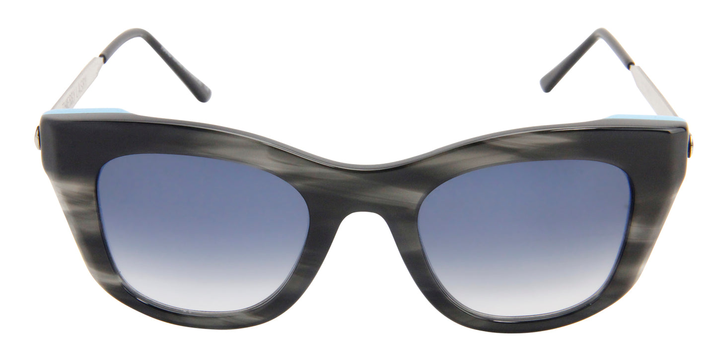 Thierry Lasry - Supremacy Black Oval Women Sunglasses - 52mm