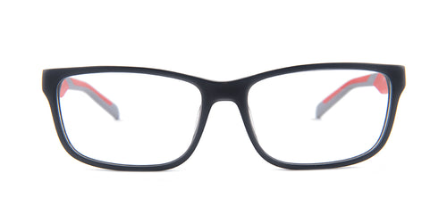 Tagheuer - TH0553 Gray Rectangular Men Eyeglasses - 57mm