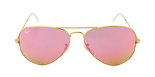 Ray Ban - Aviator Gold/Pink Mirror Unisex Sunglasses - 58mm