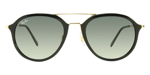 Ray Ban - RB4253 Black Oval Unisex Sunglasses - 53mm