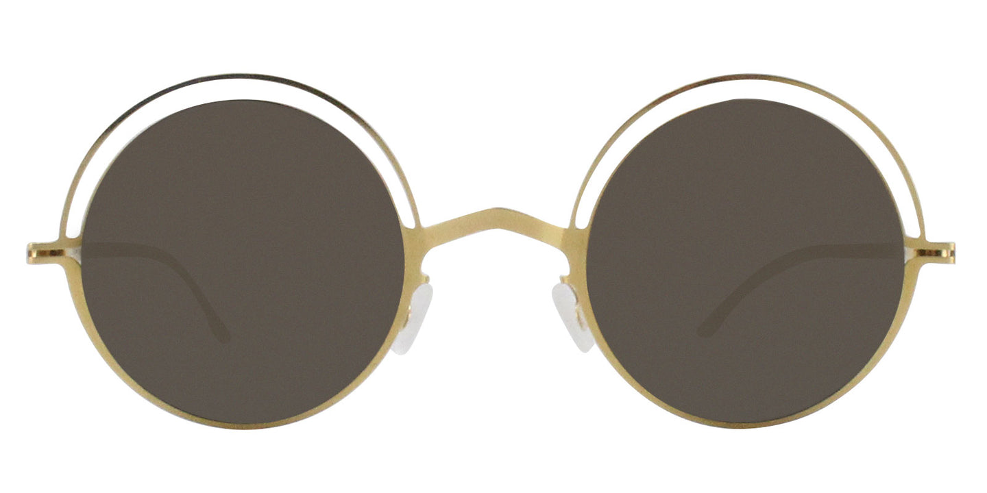 Mykita - Bueno Gold/Gold Mirror Oval Women Sunglasses - 45mm
