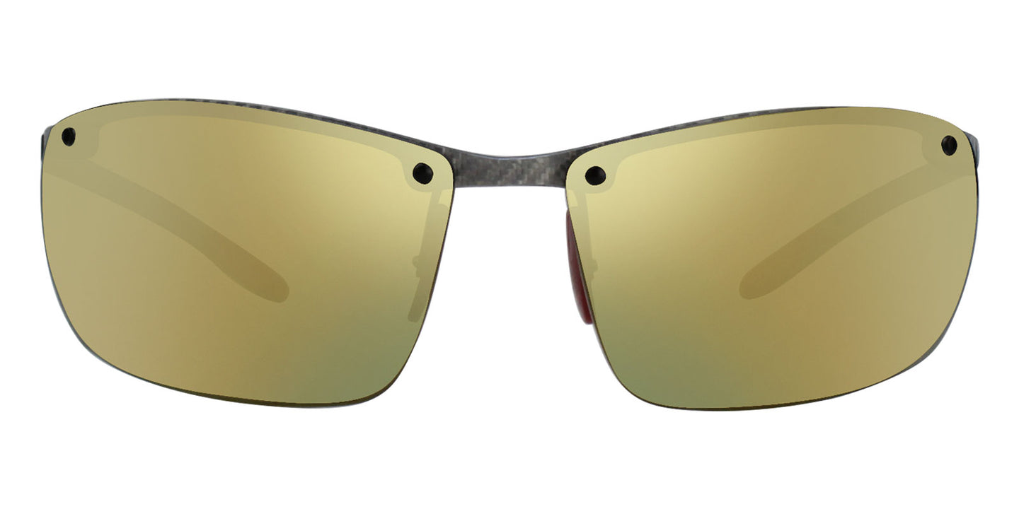 Ray Ban - RB8305M Gray/Gold Mirror Polarized Rimless Men Sunglasses - 65mm