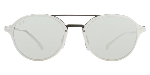 Ray Ban RB4287 White / Silver Lens Mirror Sunglasses