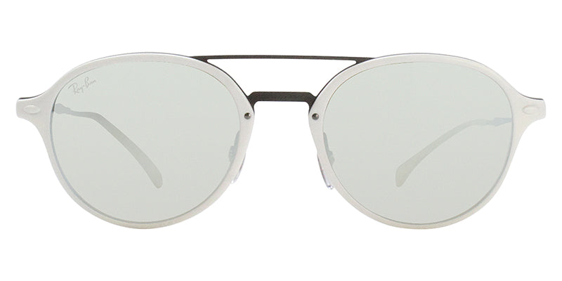 Ray Ban - RB4287 White/Silver Mirror Oval Unisex Sunglasses - 55mm