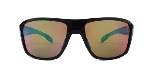 Oakley Split Shot Black / Green Lens Mirror Polarized Sunglasses