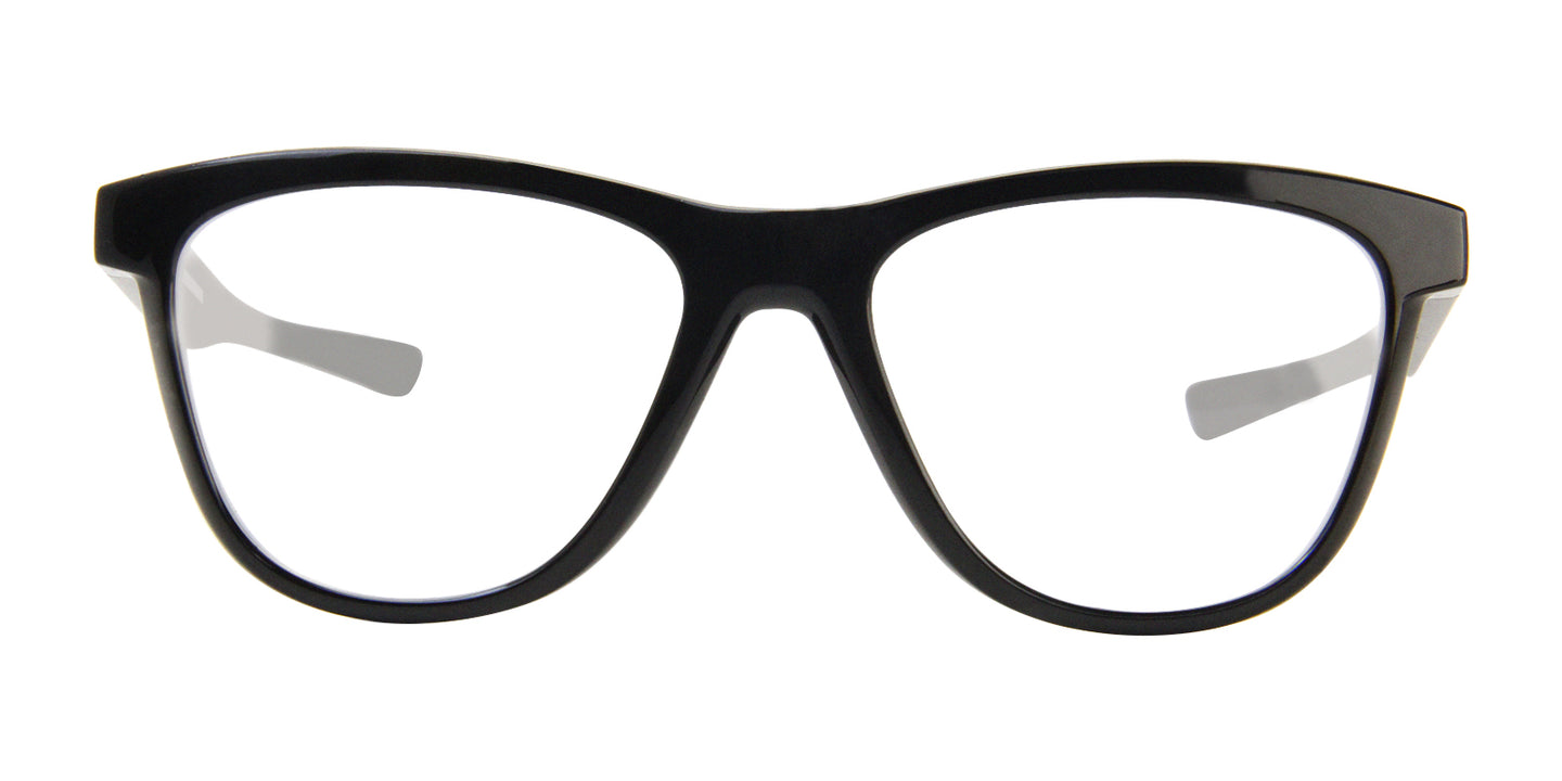 Oakley - Grounded Black/Clear Oval Unisex Eyeglasses - 53mm