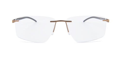 Porsche Design P8341 Gold / Clear Lens Eyeglasses