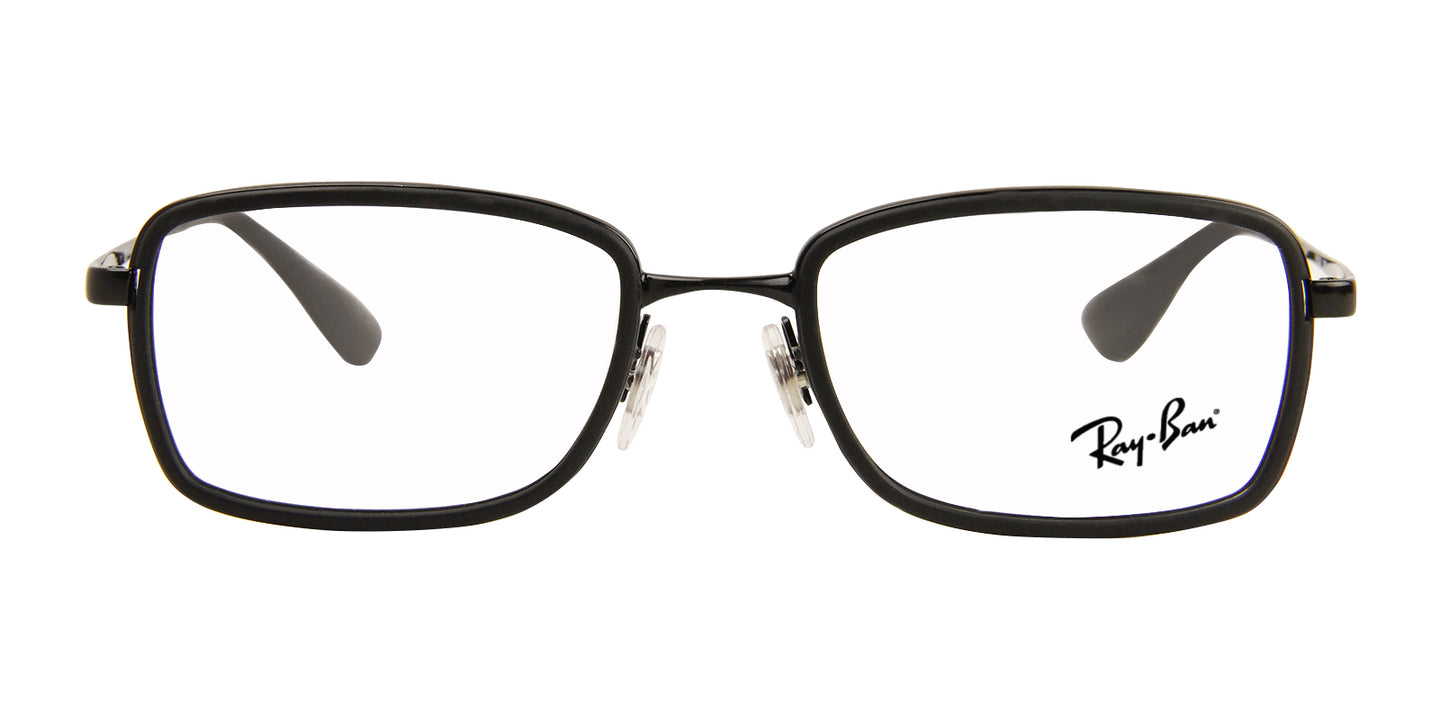 Ray Ban Rx - RX6336 Black Rectangular Unisex Eyeglasses - 51mm
