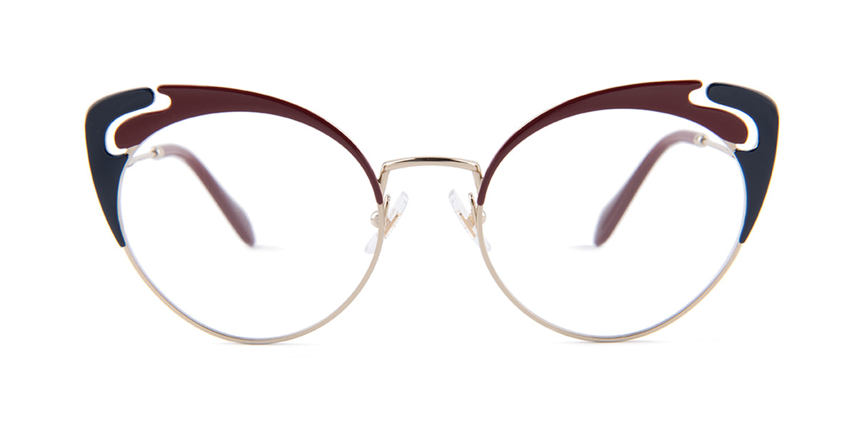 Miu Miu - MU50R Gold Butterfly Women Eyeglasses - 52mm