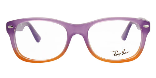 Ray Ban Rx - RY1528 Purple Rectangular Unisex Eyeglasses - 48mm