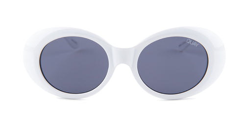 Quay Australia - Frivolous White Oval Women Sunglasses - mm