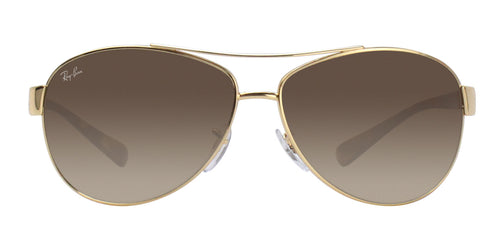 Ray Ban - RB3386 Gold/Brown Gradient Aviator Men Sunglasses - 63mm