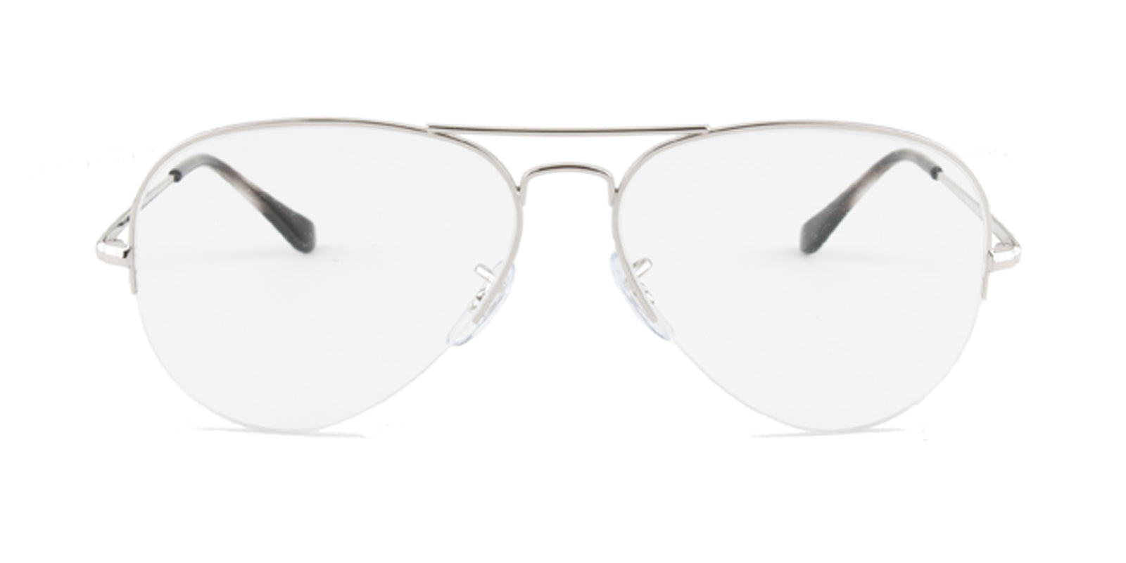 e1c4832496d Ray Ban RX6589 Silver   Clear Lens Eyeglasses – shadesdaddy