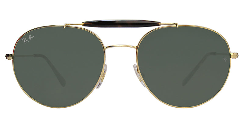 Ray Ban - RB3540 Gold Oval Unisex Sunglasses - 56mm