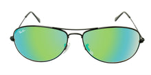 Ray Ban - Cockpit Black/Green Mirror Oval Unisex Sunglasses - 59mm