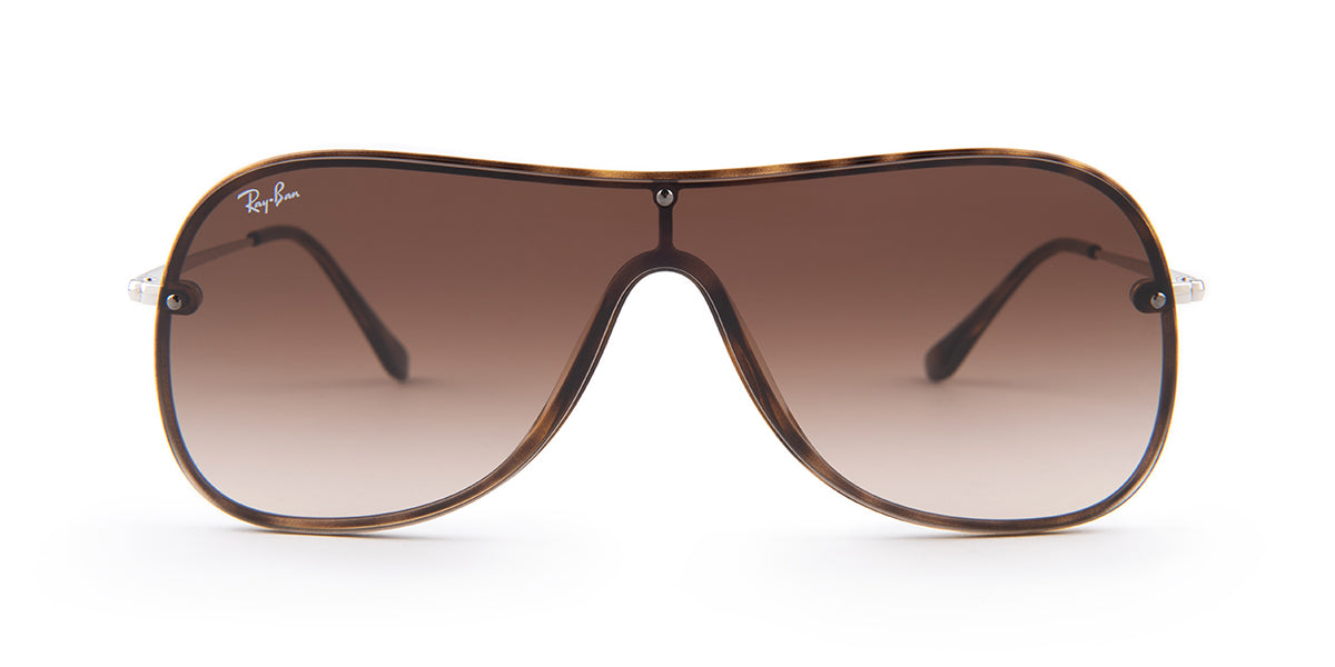 Ray Ban - RB4311-N Havana/Brown Gradient Shield Women Sunglasses