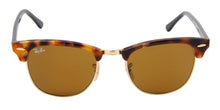 Ray Ban - Clubmaster Gold/Brown Oval Unisex Sunglasses - 51mm