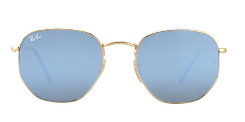 Ray Ban - RB3548N Gold/Blue Mirror Oval Unisex Sunglasses - 54mm