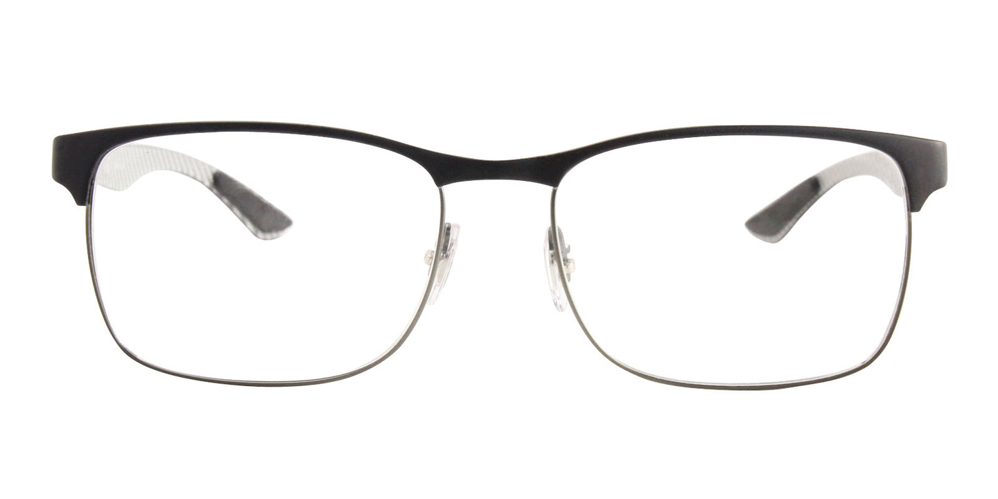 Ray Ban Rx - RX8416 Black Rectangular Unisex Eyeglasses - 55mm