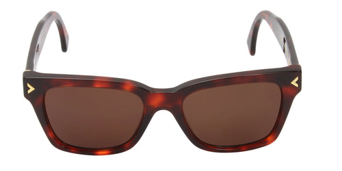 Retrosuperfuture - America Tortoise Rectangular Men, Women Sunglasses - 51mm