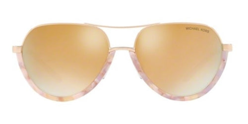 Michael Kors Austin Pink / Rose Gold Lens Mirror Sunglasses