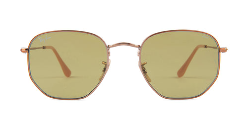 Ray Ban - RB3548N Copper/Green Square Women Sunglasses - 54mm