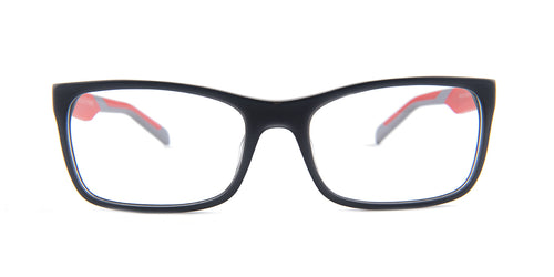 Tagheuer - TH0554 Gray Rectangular Men Eyeglasses - 56mm
