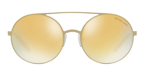 18772370fe9 Michael Kors MK1027 Gold   Gold Lens Mirror Sunglasses