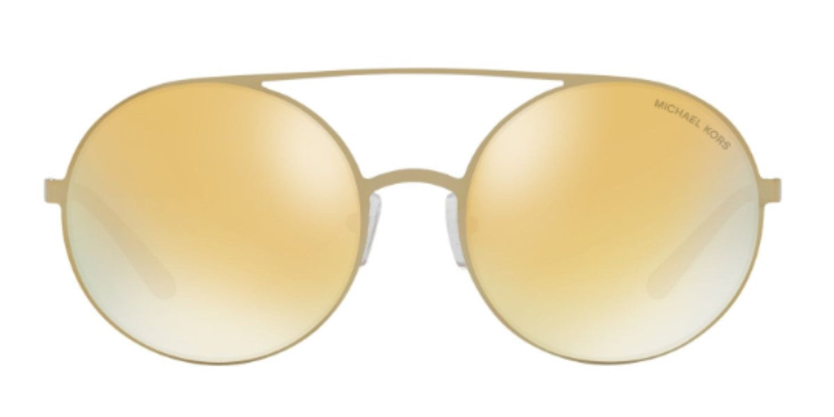 Michael Kors MK1027 Gold / Gold Lens Mirror Sunglasses