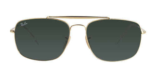 Ray Ban - The Colonel Gold/Green Rectangular Men Sunglasses - 61mm