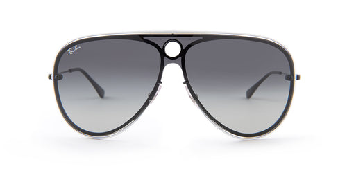 Ray Ban - RB3605N White/Black  Gradient Aviator Unisex Sunglasses - 32mm