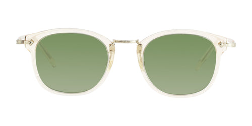 Oliver Peoples OP-506 Sun Clear Gold / Green Lens Sunglasses
