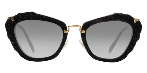 Miu Miu MU04QS Black / Gray Lens Sunglasses