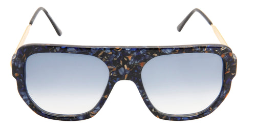Thierry Lasry - Misoginy Black/Blue Rectangular Men, Women Sunglasses - 54mm
