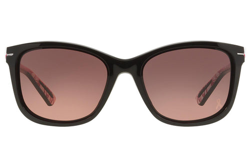 Oakley Drop In Black / Pink Lens Sunglasses