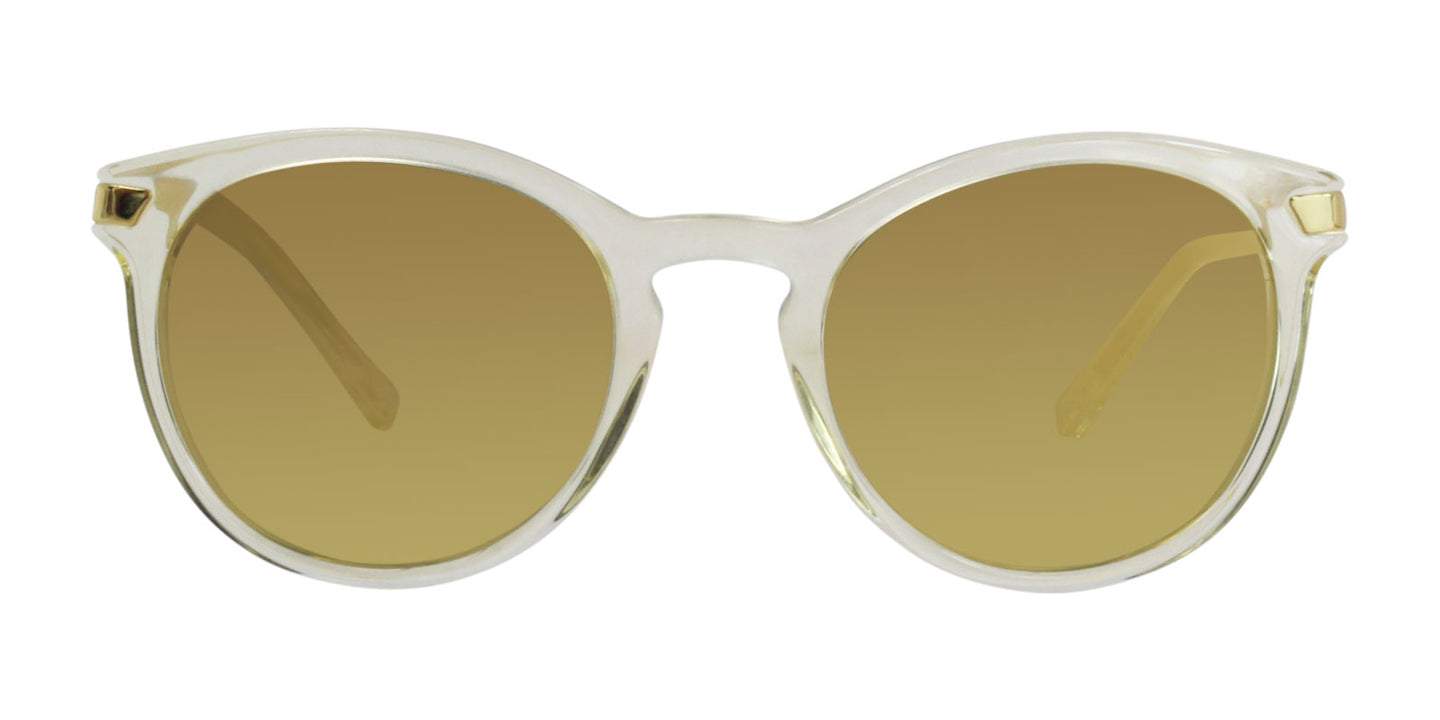 Michael Kors Adrianna III Clear / Gold Lens Mirror Sunglasses