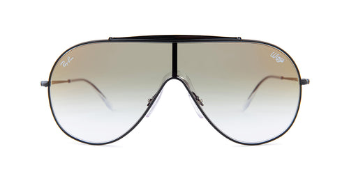 Ray-Ban RB3597 Black / Green Lens Mirror