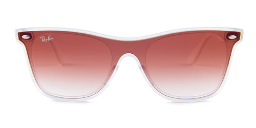 Ray Ban - RB4440N Gray White/Burgundy Gradient Shield Women Sunglasses