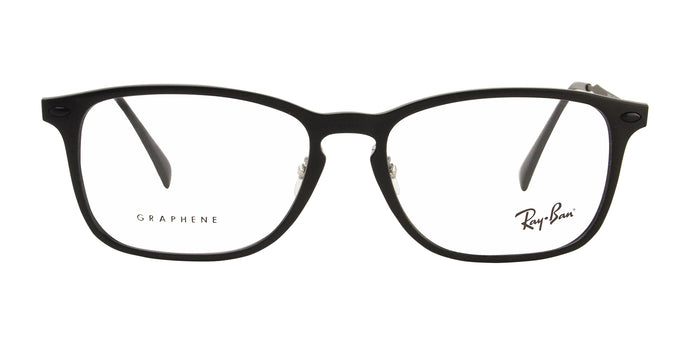 Ray Ban Rx - RX8953 Black Rectangular Unisex Eyeglasses - 56mm