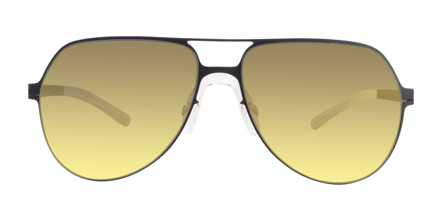 Mykita Beppo Black / Gold Lens Mirror Sunglasses