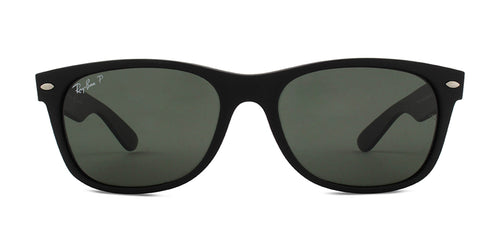 Ray Ban - New Wayfarer Black/Green Polarized Unisex Sunglasses - 55mm