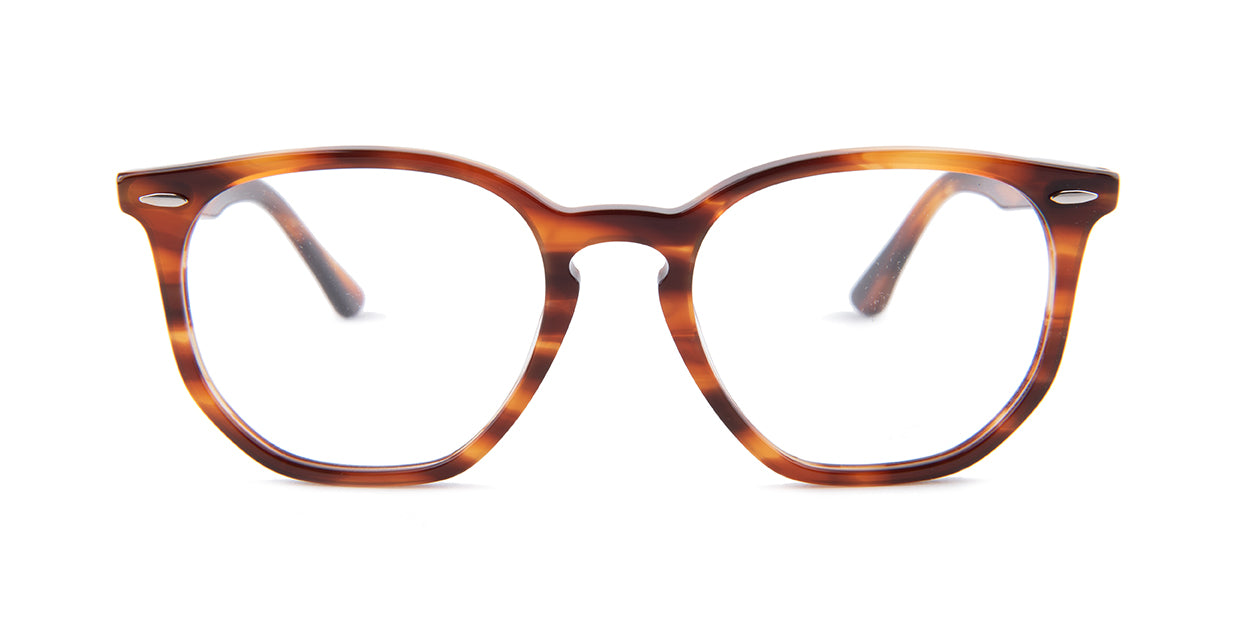 Ray Ban Rx - RX7151 Tortoise Oval Unisex Eyeglasses - 52mm