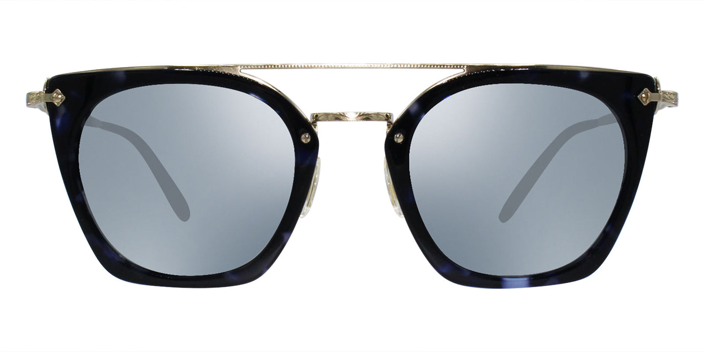 Oliver Peoples Dacette Gold Blue / Blue Lens Mirror Sunglasses