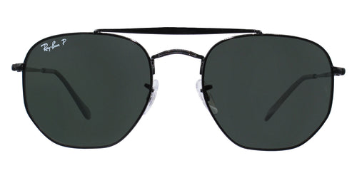 Ray Ban - RB3648 Black/Green Polarized Oval Unisex Sunglasses - 54mm