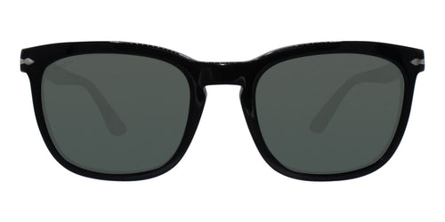 Persol - PO3193S Black Rectangular Unisex Sunglasses - 55mm